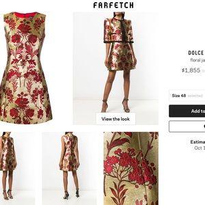 Floral jaquard dress